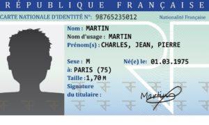 Combien coûte une carte d'identité ?