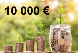 Combien rapporte 10 000 euros placés ?