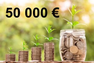 Combien rapporte 50 000 euros placés ?